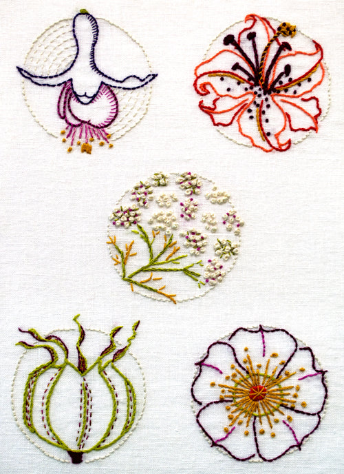 AS 11 Blooms Embroidery Patterns and Kits