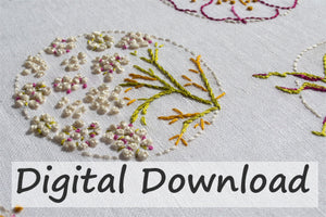 AS 11 Blooms Embroidery Pattern