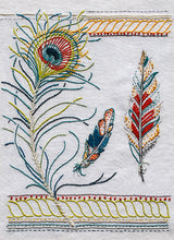 Load image into Gallery viewer, The Feathers Embroidery Pattern is from Sproule Studios.