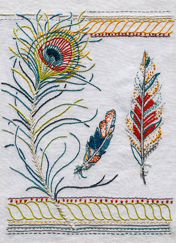 The Feathers Embroidery Pattern is from Sproule Studios.