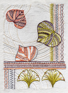 The Leaves Hand Embroidery Pattern is from Sproule Studios.