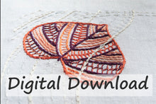 Load image into Gallery viewer, The Leaves Hand Embroidery Pattern is designed by April Sproule.
