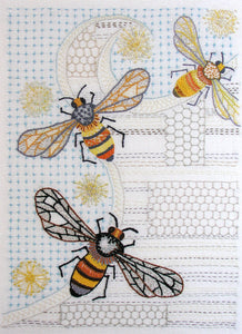 This is the Bees Embroidery Pattern from Sproule Studios.
