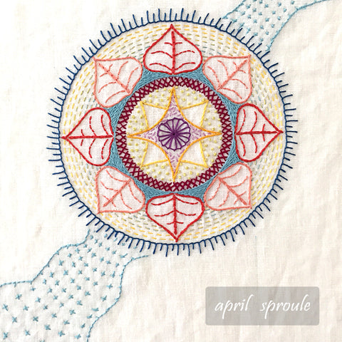 Contemporary Hand Embroidery workshop by April Sproule.