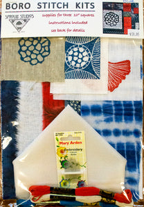 Boro Stitch Kit from Sproule Studios, for three ten inch square hand embroidery projects.
