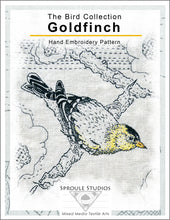 Load image into Gallery viewer, The Goldfinch, Hand Embroidery Pattern