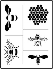 Load image into Gallery viewer, SPR 11 Bees Stencil