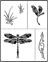 Load image into Gallery viewer, This is the DRagonfly Stencil created by April Sproule.