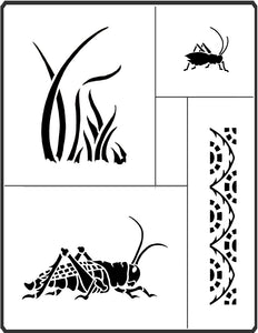 This Grasshopper Stencil by April Sproule is great for painting on art projects for children.