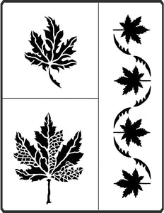 This lovely Maple Stencil is designed by April Sproule