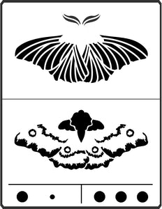 This Moth Stencil is designed by April Sproule for use on fiber arts and mixed media projects.