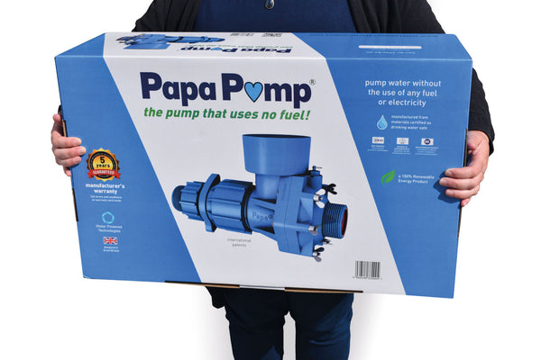 Papa Ram Pump - Pump water more than 400 feet high over long distances using NO FUEL OR ELECTRICITY!