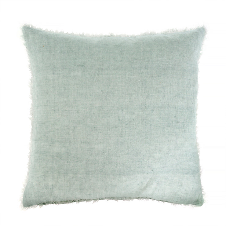 Stone washed linen cushion