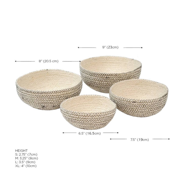 Sea Grass Basket Zig Zag