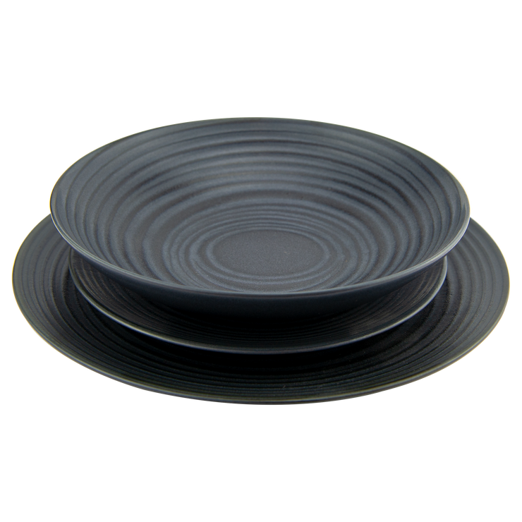 Dinnerware Black Grain