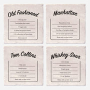 Drink Recipes Coaster Set