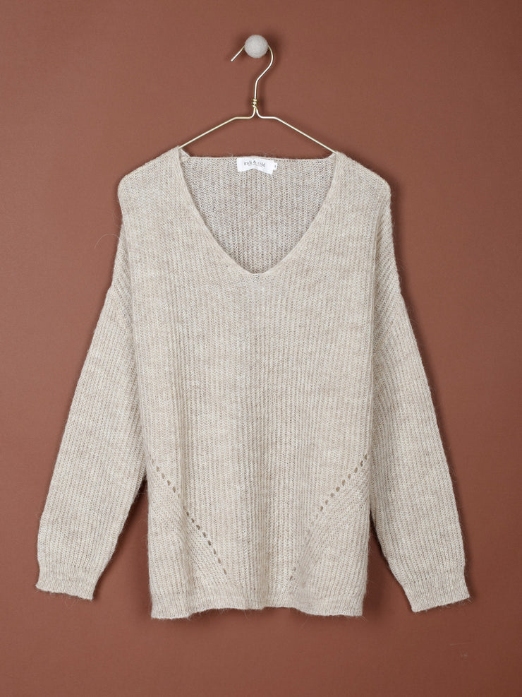 Soft Cozy Sweater With Alpaca