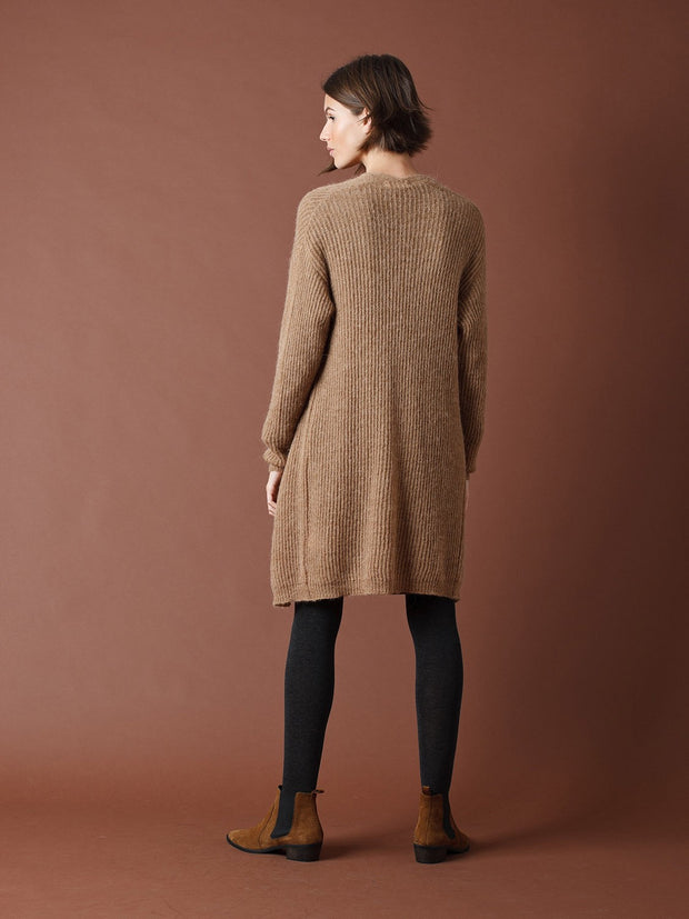 Long sweater with alpaca