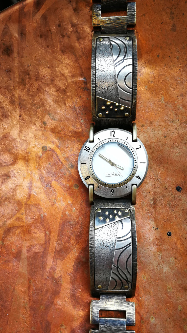 Watchcraft Silver wide Lrg