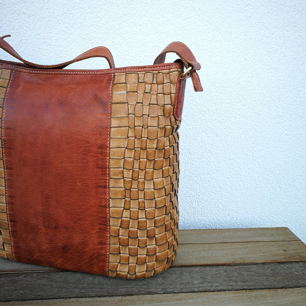 Leather Handbag Cognac