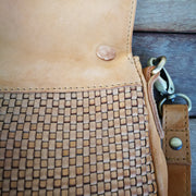 Leather Bag Fold Over Handle