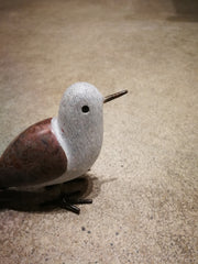 Soapstone Bird With Metal
