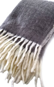Mohair Blanket Grey