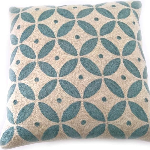 Crewel Stitch Cushion Cover 4