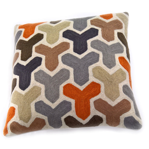 Crewel Stitch Cushion Cover 1