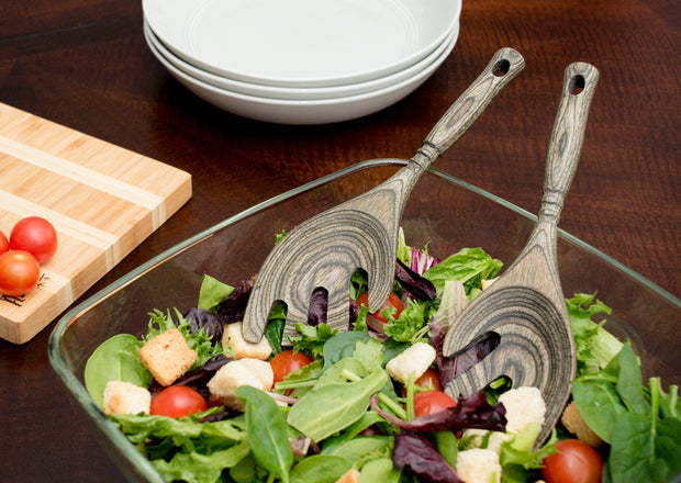 Small Salad Servers Leaf