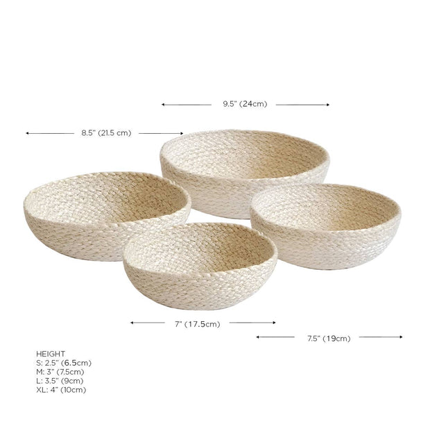 Sea Grass Basket white
