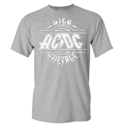 AC/DC High Voltage Sports Gray T-shirt