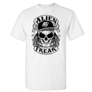 ALIEN FREAK WEAR Skull White T-Shirt