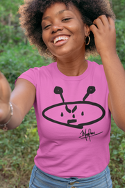 ALIEN FREAK WEAR Classic Ladies Pink T-Shirt