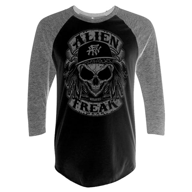 ALIEN FREAK WEAR Skull Grey Raglan