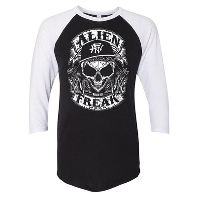 ALIEN FREAK WEAR Skull Raglan