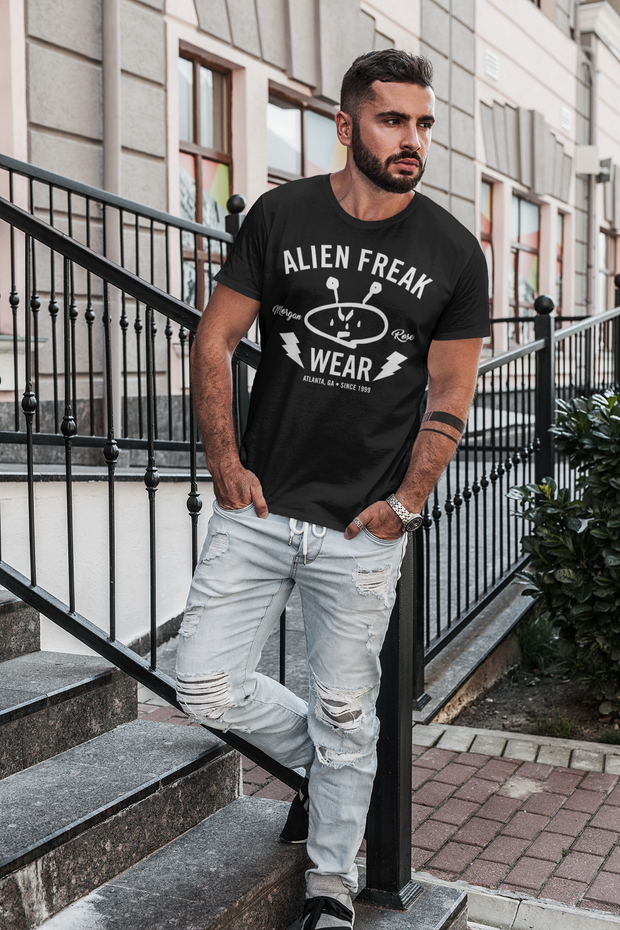 ALIEN FREAK WEAR Brand Black T-Shirt