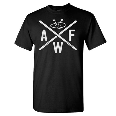 ALIEN FREAK WEAR Grey Drumstick Logo Black T-Shirt