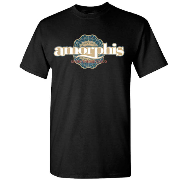 AMORPHIS Red Cloud Sun Logo Black T-Shirt