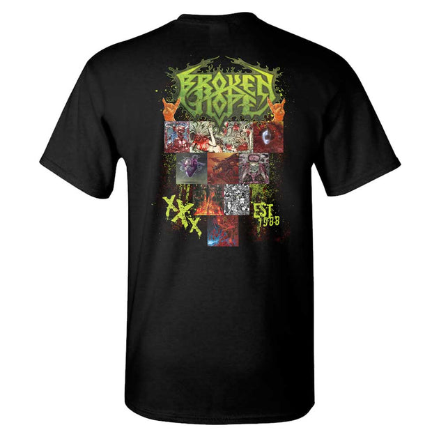 BROKEN HOPE 30th Anniversary Black T-Shirt