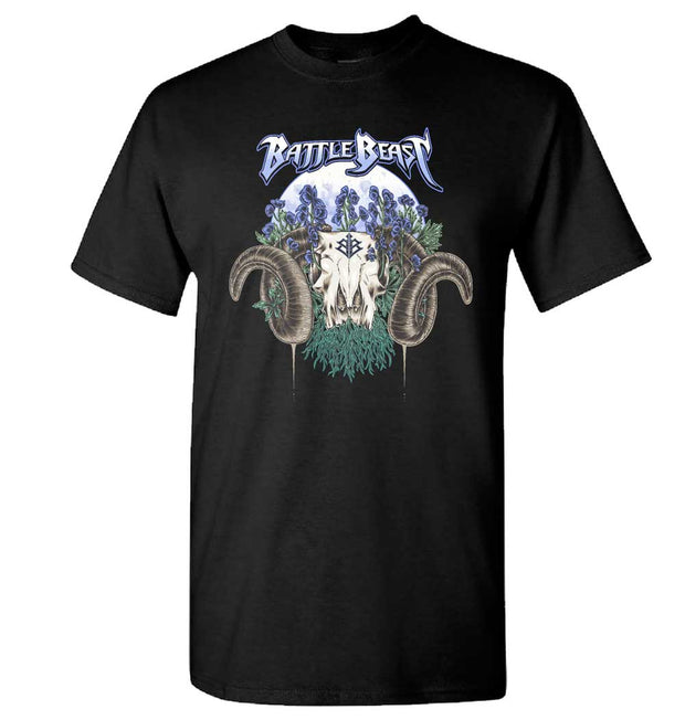 BATTLE BEAST Ram Skull T-Shirt