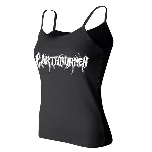 EARTHBURNER Logo Ladies Spaghetti Strap Tank Top