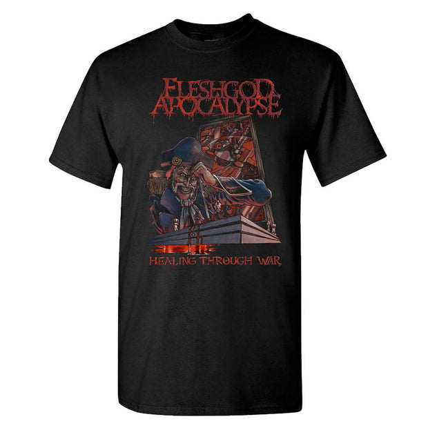 FLESHGOD APOCALYPSE Healing Through War Black T-Shirt