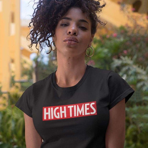 HIGH TIMES High Times Red Logo Ladies T-shirt