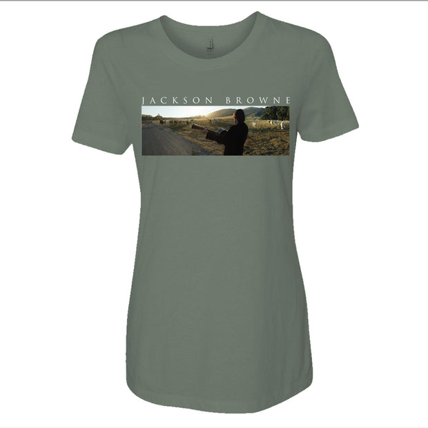 JACKSON BROWNE Solo Acoustic Vol 2 (Singing To The Cows) Album Ladies Shirt