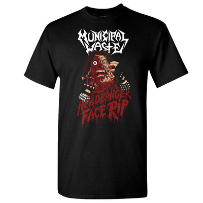 MUNICIPAL WASTE Headbanger Face Rip T-Shirt-S