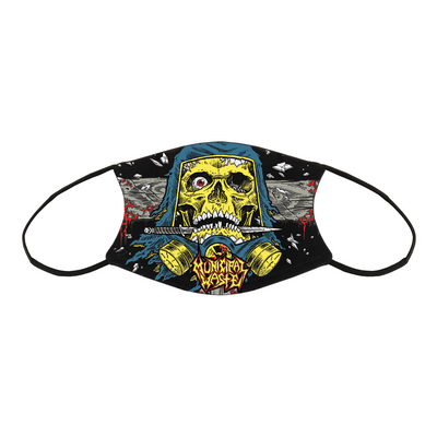MUNICIPAL WASTE Schaller Skull Sublimated Facemask