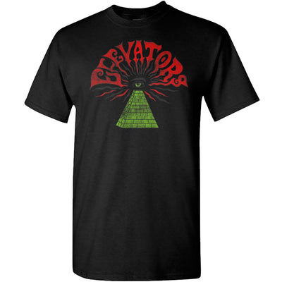 ROKY ERICKSON Elevators Pyramid Eye Black T-Shirt