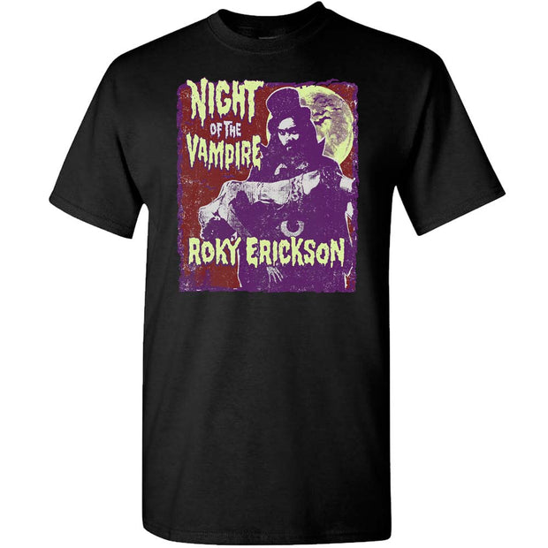 ROKY ERICKSON Night Of The Vampire Black T-Shirt