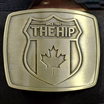 THE TRAGICALLY HIP Brass Belt Buckle